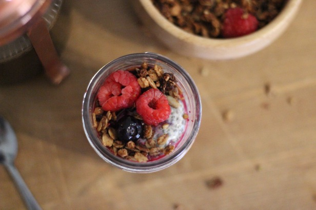 Topped with fresh berries and granola